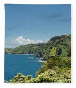 Highway To Heaven Hana Highway Maui Hawaii Fleece Blanket