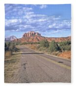 Highway To Sedona Fleece Blanket