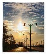 Highway To The Sun Fleece Blanket