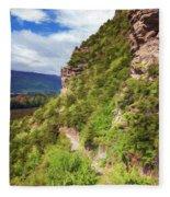 Hike Up Mt Iron Wanaka New Zealand Fleece Blanket