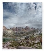 Hiker At Twin Lakes - Chicago Basin - Weminuche Wilderness - Colorado Fleece Blanket