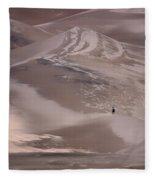Hiker - Great Sand Dunes - Colorado Fleece Blanket