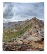 Hikers On Columbine Pass - Weminuche Wilderness - Colorado Fleece Blanket