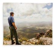 Hiking Australia Fleece Blanket