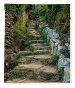 Hiking In Cinque Terre Italy Fleece Blanket