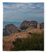 Hiking In Montserrat Spain Fleece Blanket