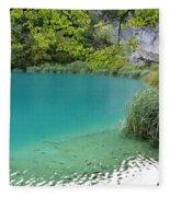 Hiking Kaluderovac Lake Fleece Blanket