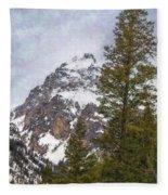 Hiking To Taggart Lake Fleece Blanket