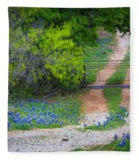 Hill Country Road Fleece Blanket