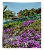 Hill Of Flowers Fleece Blanket