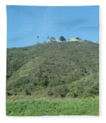 Hill With A House Fleece Blanket