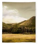 Hills And Fields Of Trial Harbour Fleece Blanket