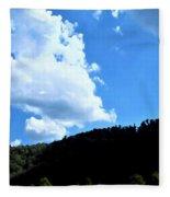 Hills And Sky Fleece Blanket