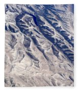 Hills And Valleys Aerial Fleece Blanket
