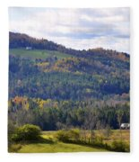 Hills Of Vermont Fleece Blanket