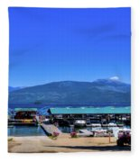 Hill's Resort On Priest Lake Fleece Blanket