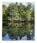 Hillsborough River Panorama 1 Fleece Blanket