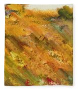 Hillside Flowers II Fleece Blanket