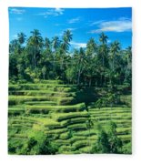 Hillside In Indonesia Fleece Blanket