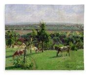 Hillside Of Vesinet Fleece Blanket