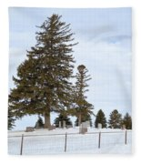 Hilltop Cemetery Fleece Blanket
