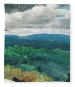 Hilly Landscape Fleece Blanket