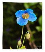 Himalayan Blue Poppy Fleece Blanket