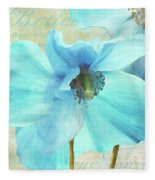 Himalayan Blue Poppy Fleece Blanket