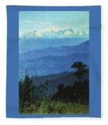 Himalayas In The Evening 1875 Vasily Vereshchagin Fleece Blanket