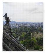 Himeji City From Shogun's Castle Fleece Blanket