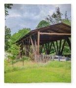 Hindman Memorial Covered Bridge Fleece Blanket
