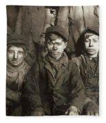 Hine: Breaker Boys, 1911 Fleece Blanket