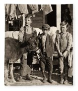 Hine: Child Labor, 1908 Fleece Blanket