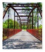 Hinkson Creek Bridge Fleece Blanket