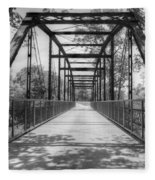 Hinkson Creek Bridge In Black And White Fleece Blanket