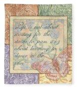 Hint Of Spring Butterfly 2 Fleece Blanket