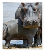 Hippo Fleece Blanket