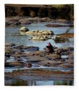 Hippo Raft Fleece Blanket