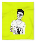 Hipsters Not Dead Fleece Blanket