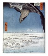Hiroshige: Edo/eagle, 1857 Fleece Blanket