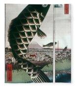 Hiroshige: Kites, 1857 Fleece Blanket