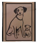 His Masters Voice - Nipper And Chipper Fleece Blanket