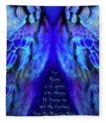 Beneath His Wings 2 Fleece Blanket