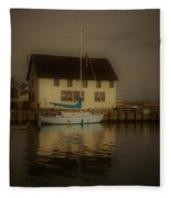 Historic Boat Builder Fleece Blanket
