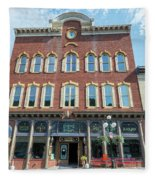 Historic Buildings Deadwood South Dakota Fleece Blanket
