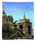 Historic Carmel Mission Fleece Blanket