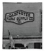 Historic Carpenter Farm Supply Sign Fleece Blanket