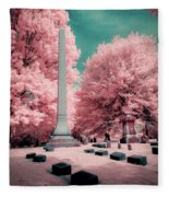 Historic Cemetery In Infrared Fleece Blanket