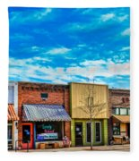 Historic Downtown Emmett 01 Fleece Blanket