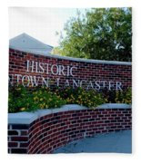 Historic Downtown Lancaster Fleece Blanket